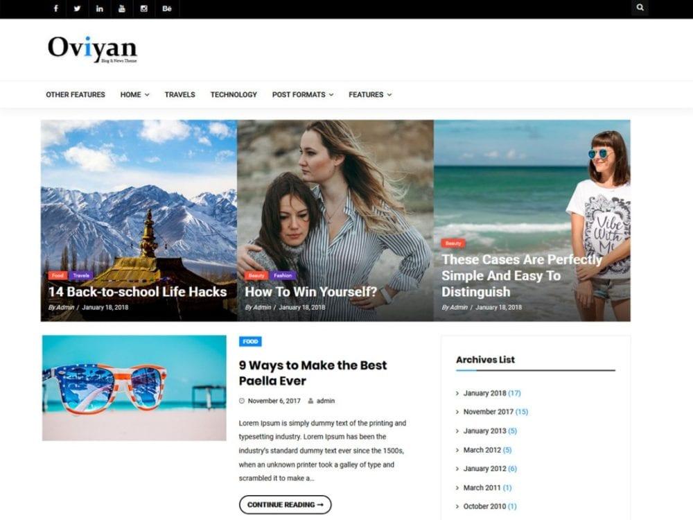 Free Oviyan Lite Wordpress theme