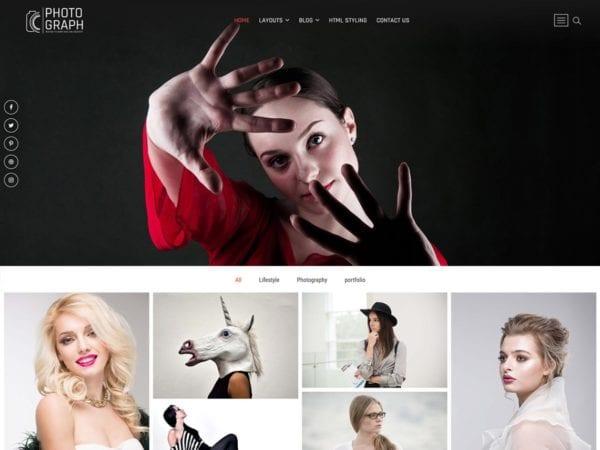 Free Photograph Wordpress theme