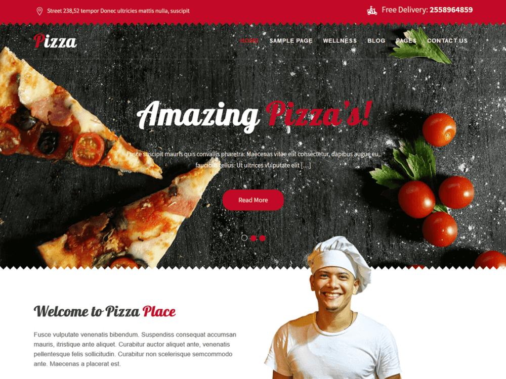 Free Pizza Lite Wordpress theme