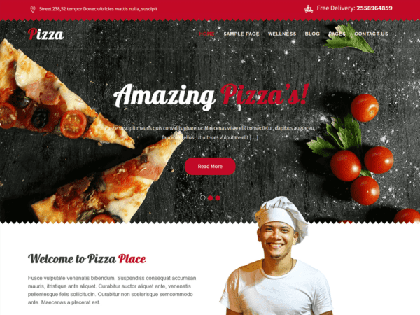 Free Pizza Lite Wordpress theme