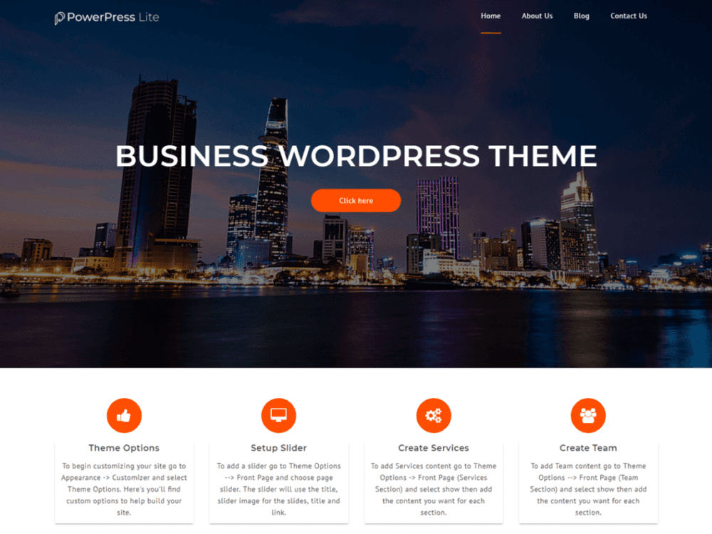 Free PowerPress Lite Wordpress theme
