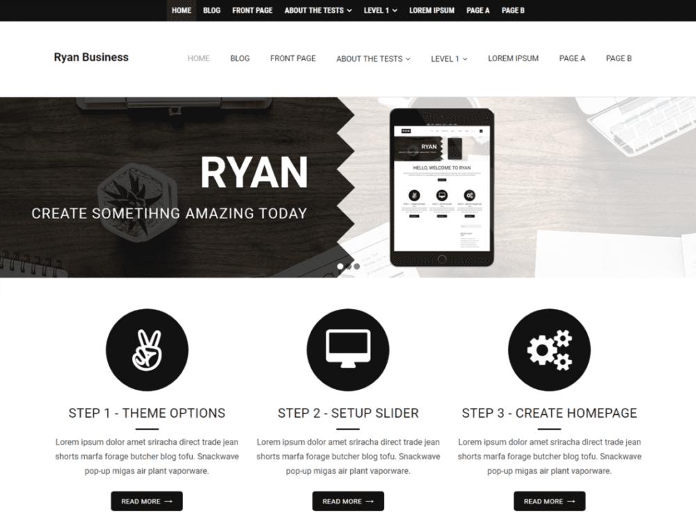 Free Ryan Business Wordpress theme