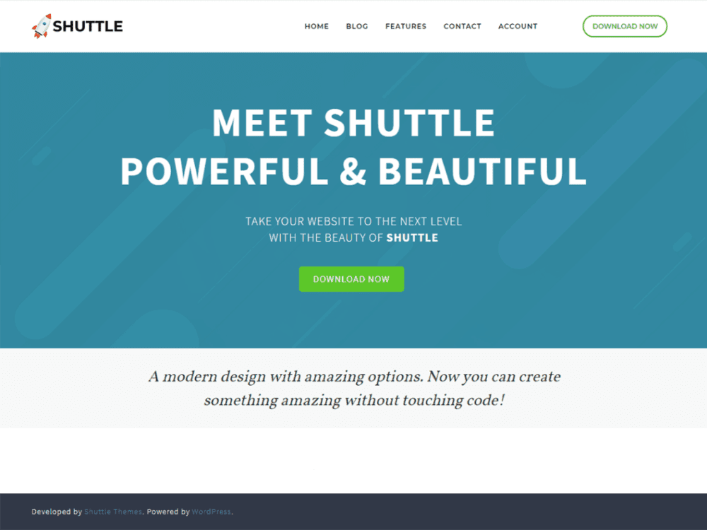 Free Shuttle Wordpress theme