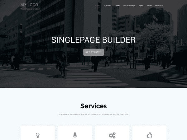 Free Singlepage Builder Wordpress theme