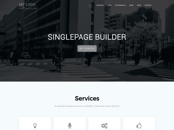 Free Singlepage Builder Wordpress theme