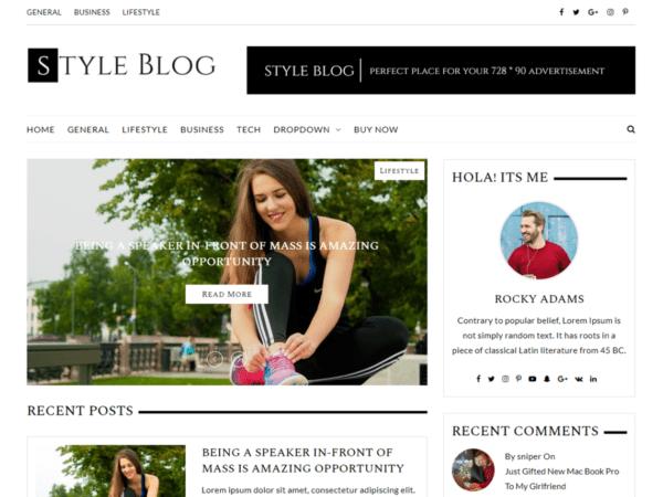 Free StyleBlog Wordpress theme
