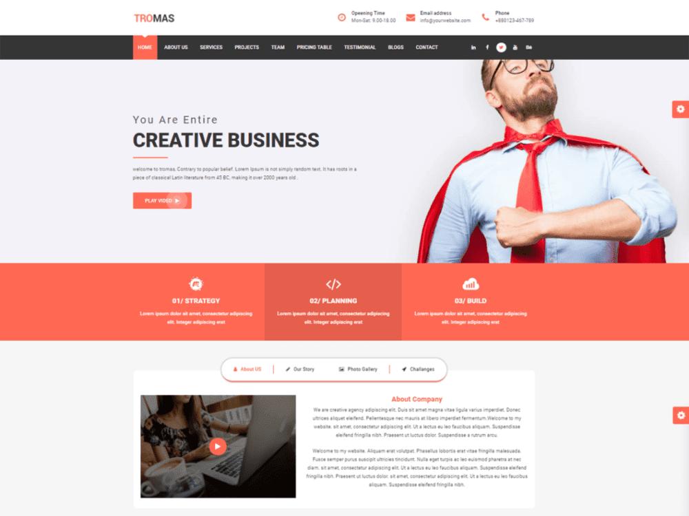 Free Tromas Wordpress theme