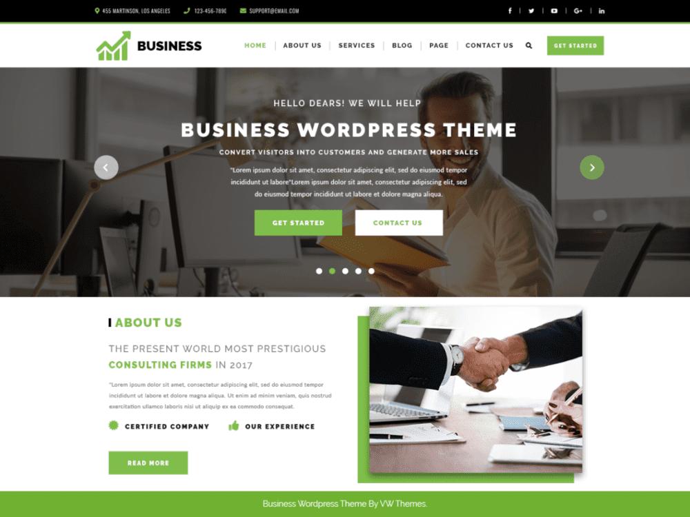 Download Free VW Corporate Business Wordpress theme - JustFreeWPThemes