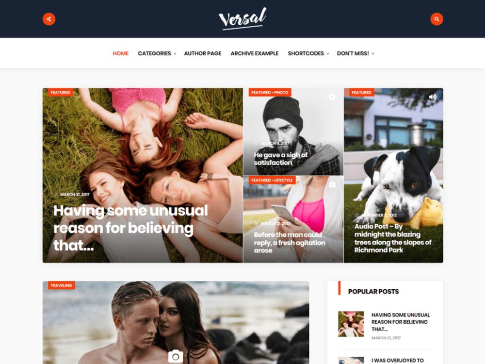Free Versal Wordpress theme