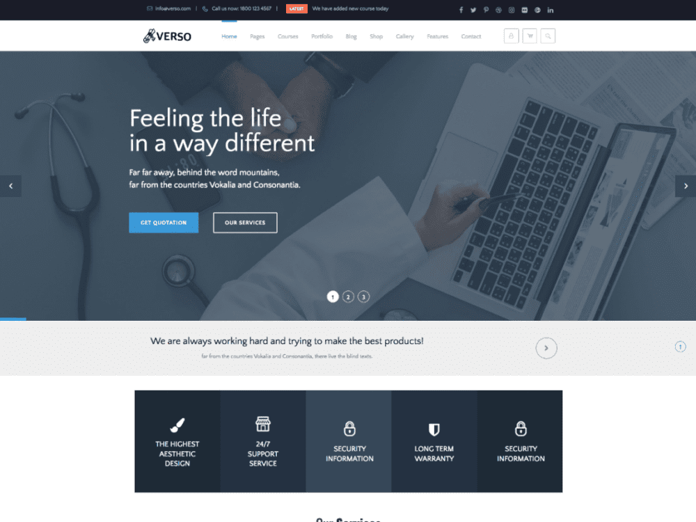 Free Verso Lite Wordpress theme