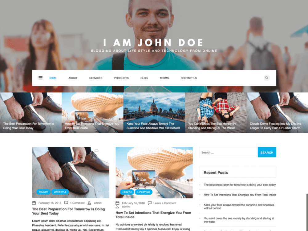 Free WP Blogger Wordpress theme