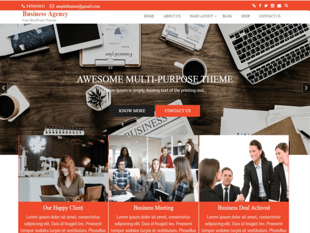 Free Business Agency Wordpress theme
