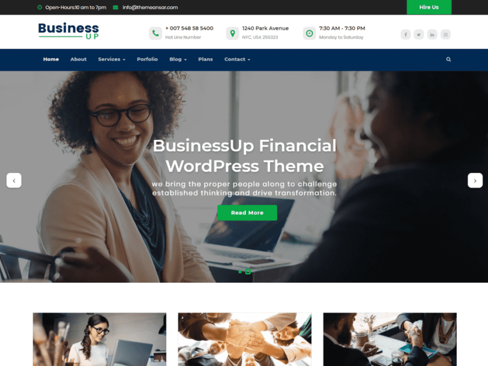 Free Businessup Wordpress theme