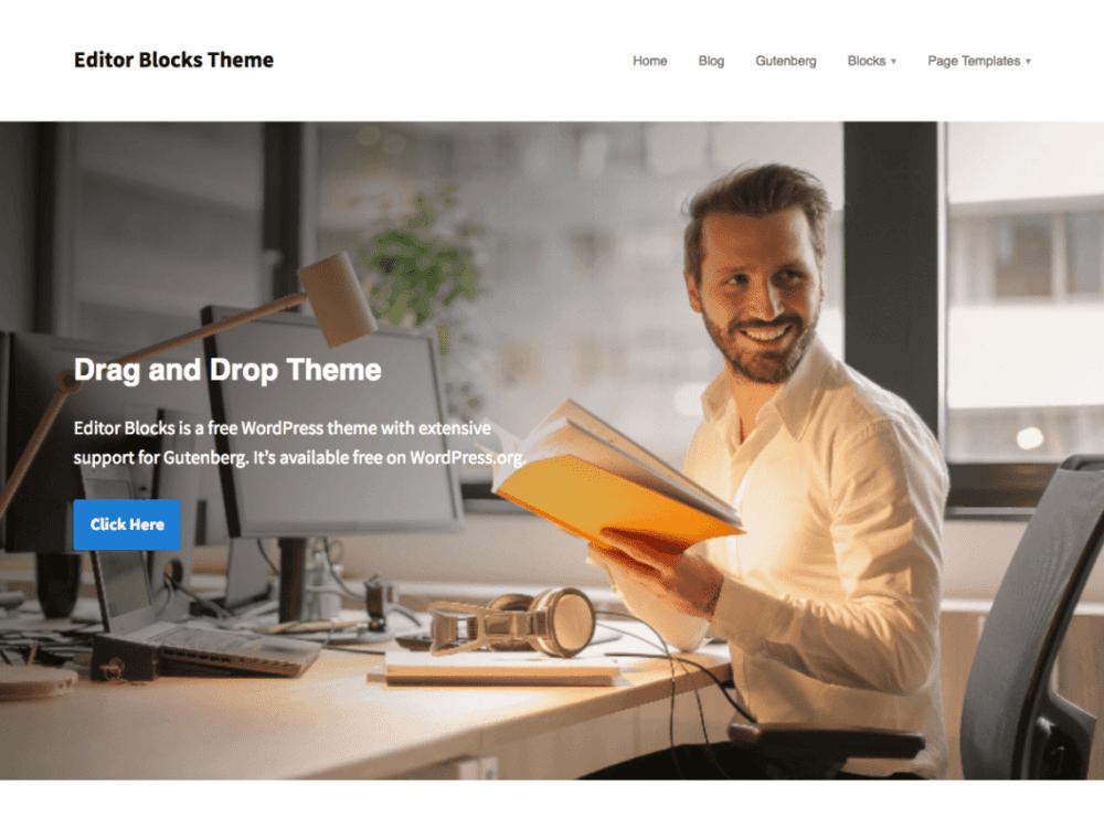 Free Editor Blocks Wordpress theme