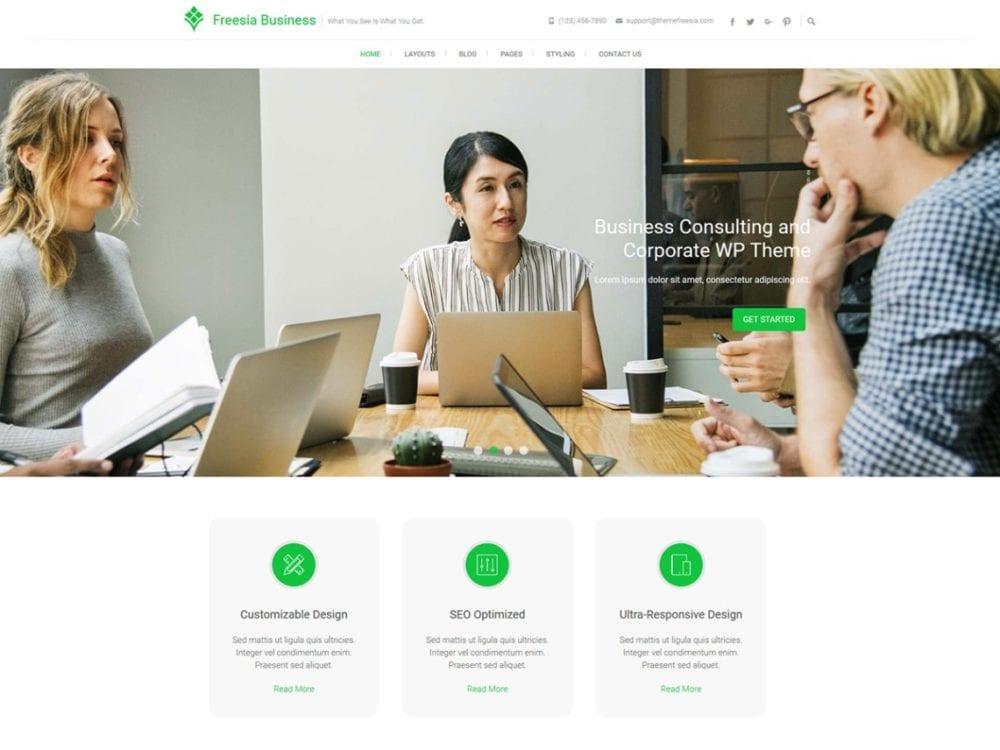 Free Freesia Business Wordpress theme