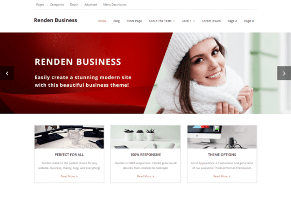 Top best free wordpress themes and templates downloads in 2018 free renden business wordpress theme reheart Image collections