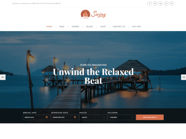 Free Swing Lite Wordpress theme