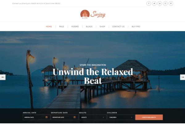 Free Swing Lite Wordpress theme