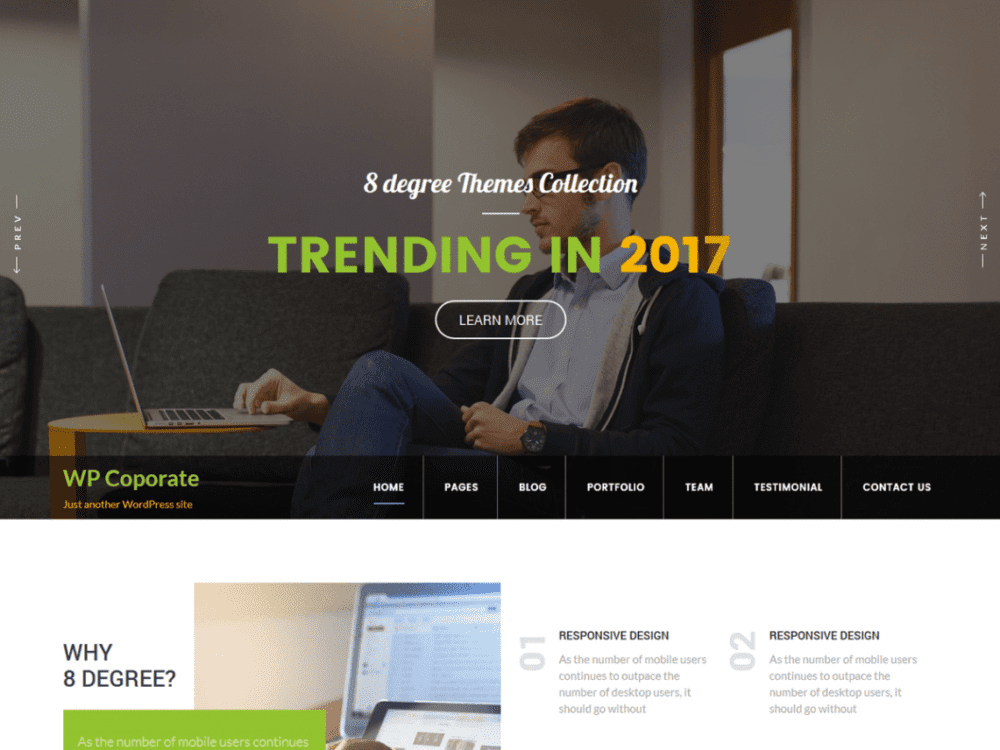 Free WP Corporate Wordpress theme