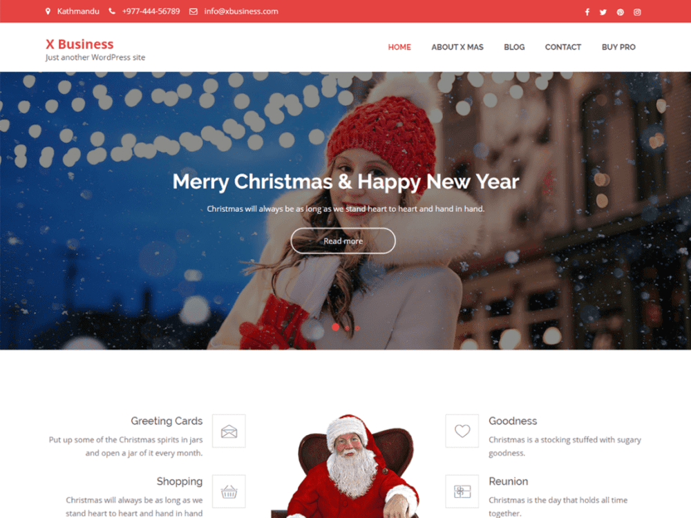 Free X Business Wordpress theme