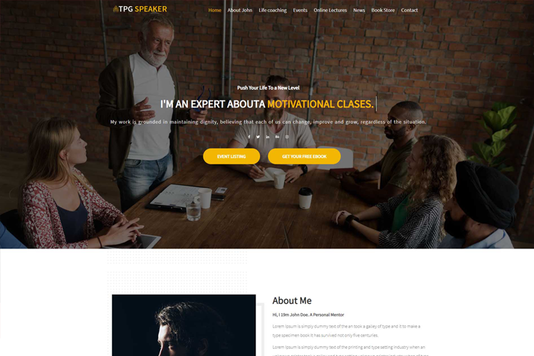 free tpg speaker wordpress theme