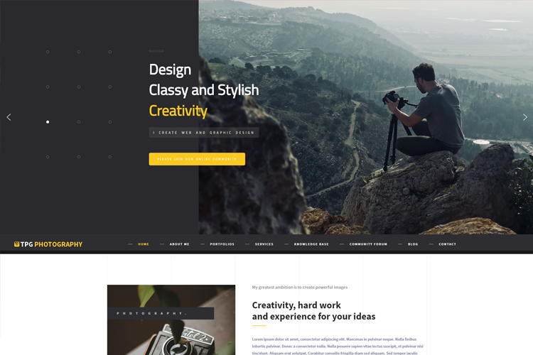 tpg-photography-free-responsive-wordpress-theme-home