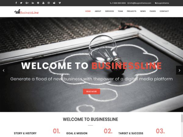 Free BPTBusinessLine Wordpress theme