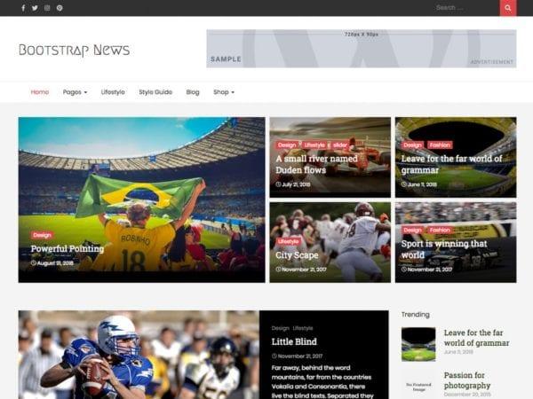 Free Bootstrap News Wordpress theme