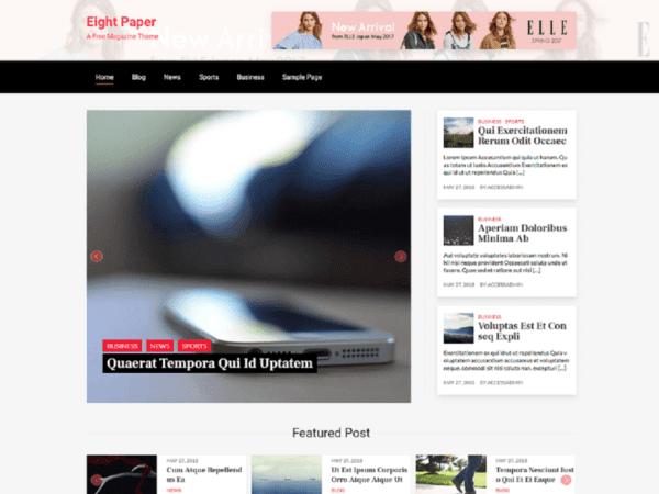Free Eight Paper Wordpress theme