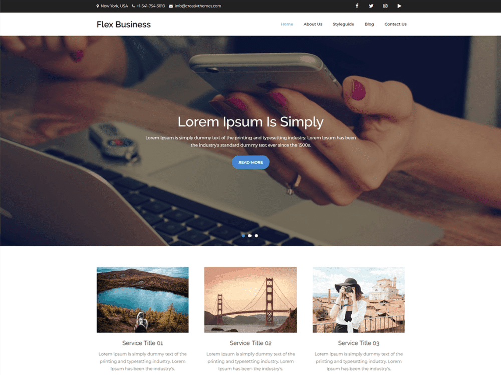Free Flex Business Wordpress theme