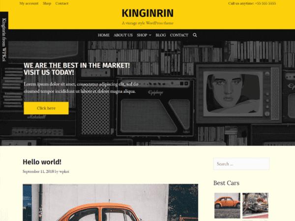 Free Kinginrin Wordpress theme