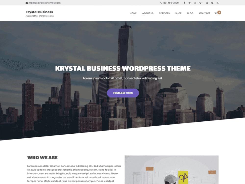 Free Krystal Business Wordpress theme
