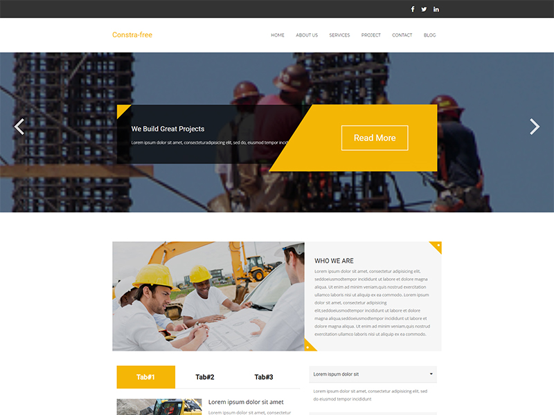 free constra wordpress theme