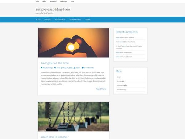 free simple east wordpress theme