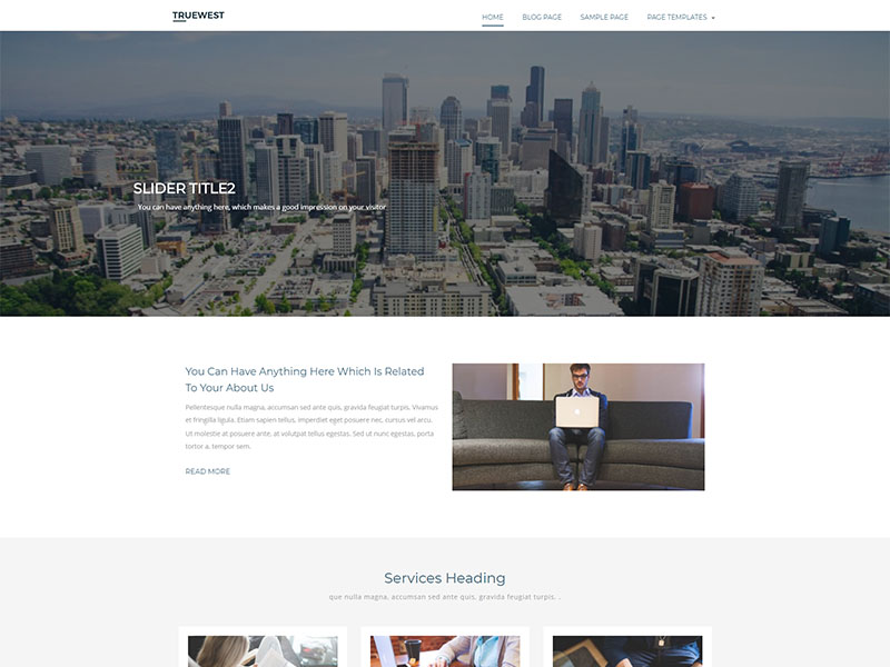 free truewest wordpress theme