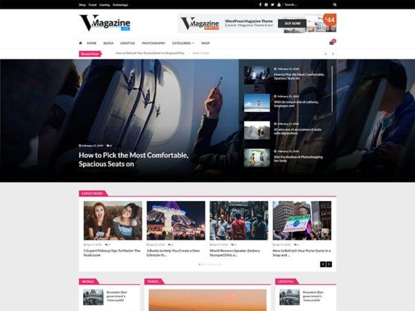 free vmagazine lite wordpress theme