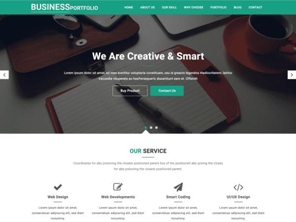 Free Business Portfolio Wordpress theme