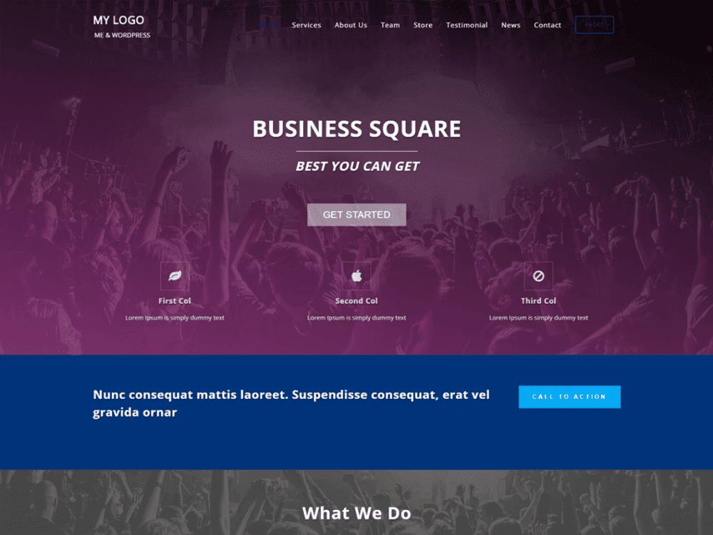 Free Business Square Wordpress theme