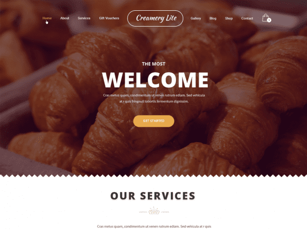 Free Creamery Lite Wordpress theme