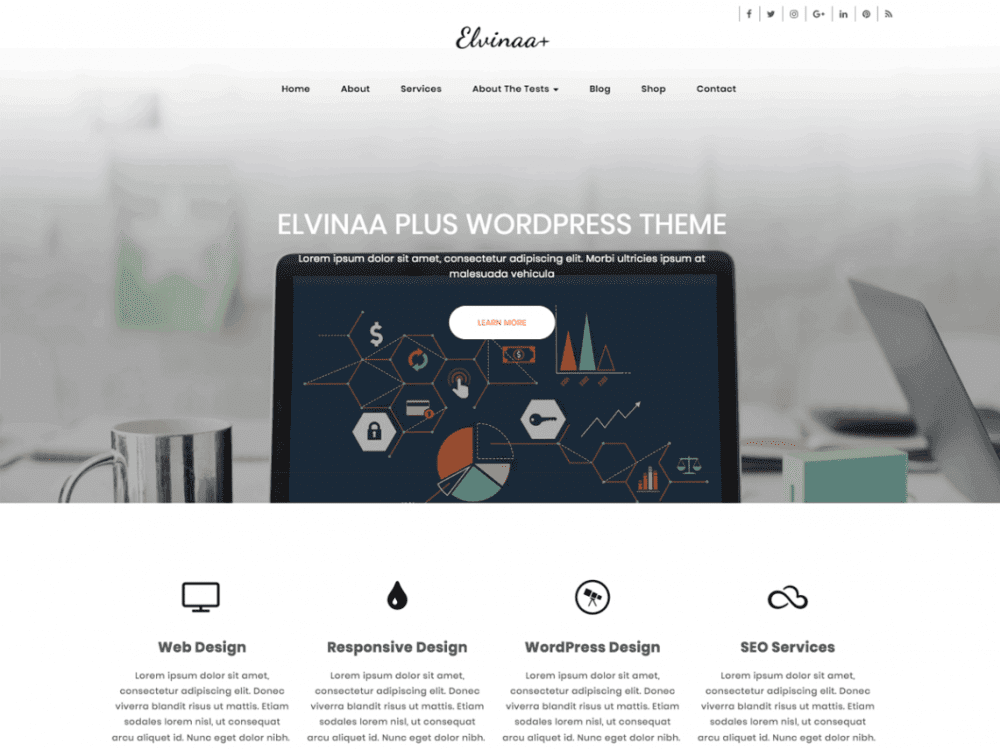Free Elvinaa Plus Wordpress theme
