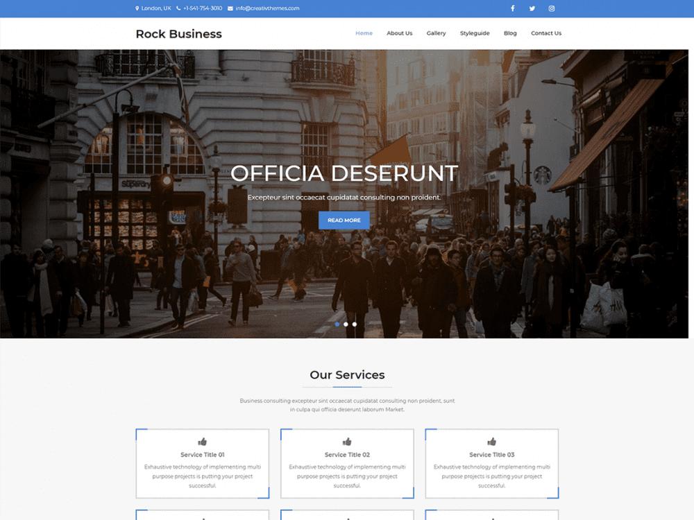 Free Rock Business Wordpress theme