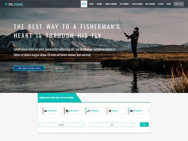 free tpg fishing wordpress theme