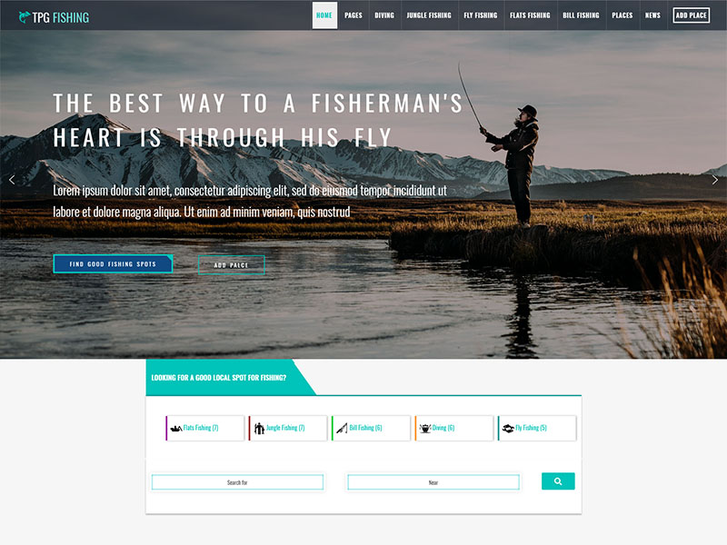 free tpg fishing wordpress theme