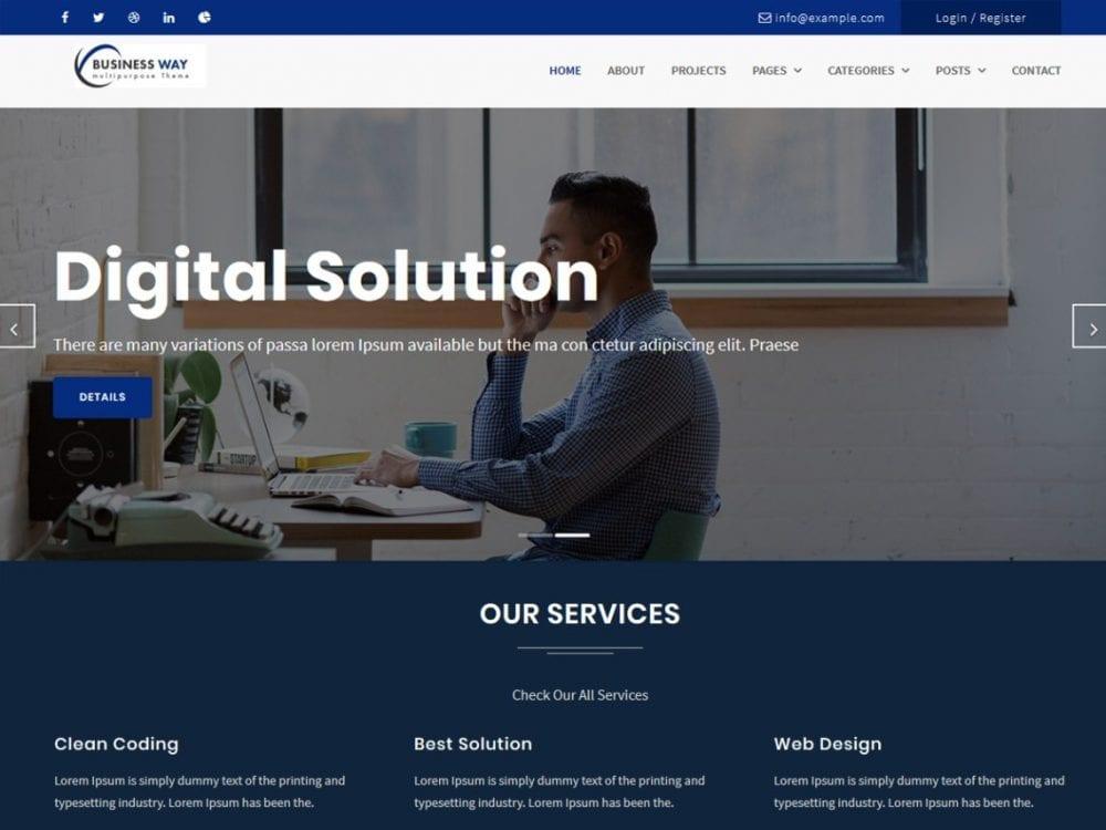 Free Business Way Wordpress theme