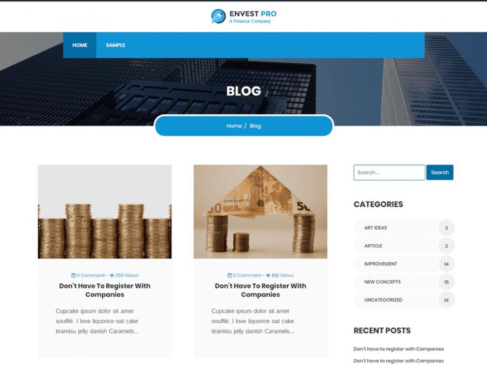 Free EnvestPro Lite WordPress theme