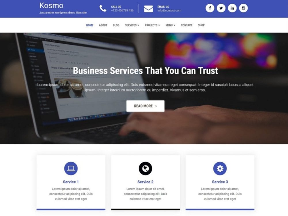Free Kosmo Wordpress theme