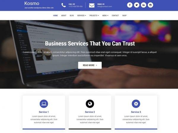 Free Kosmo Wordpress theme