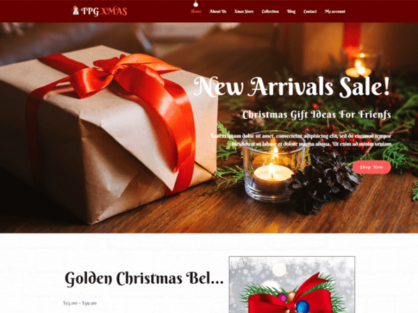 TPG-xmas-free-wordpress-theme-home