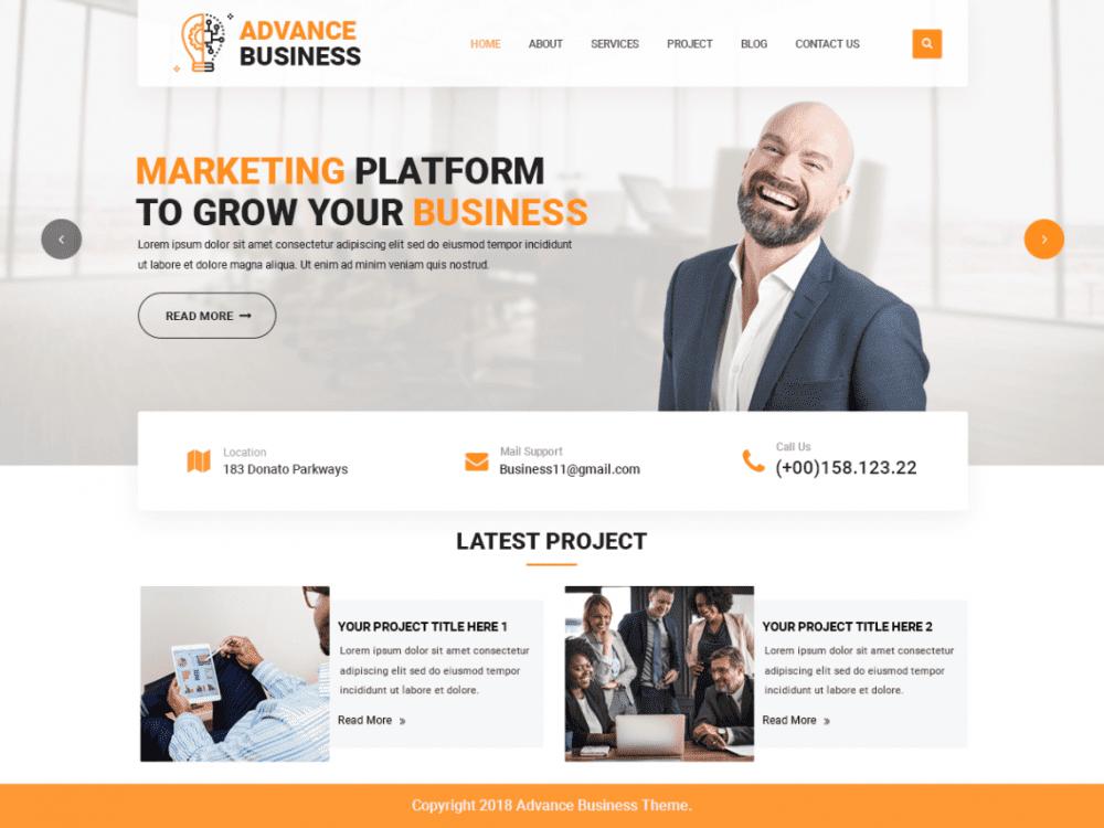 Free Advance Business WordPress theme