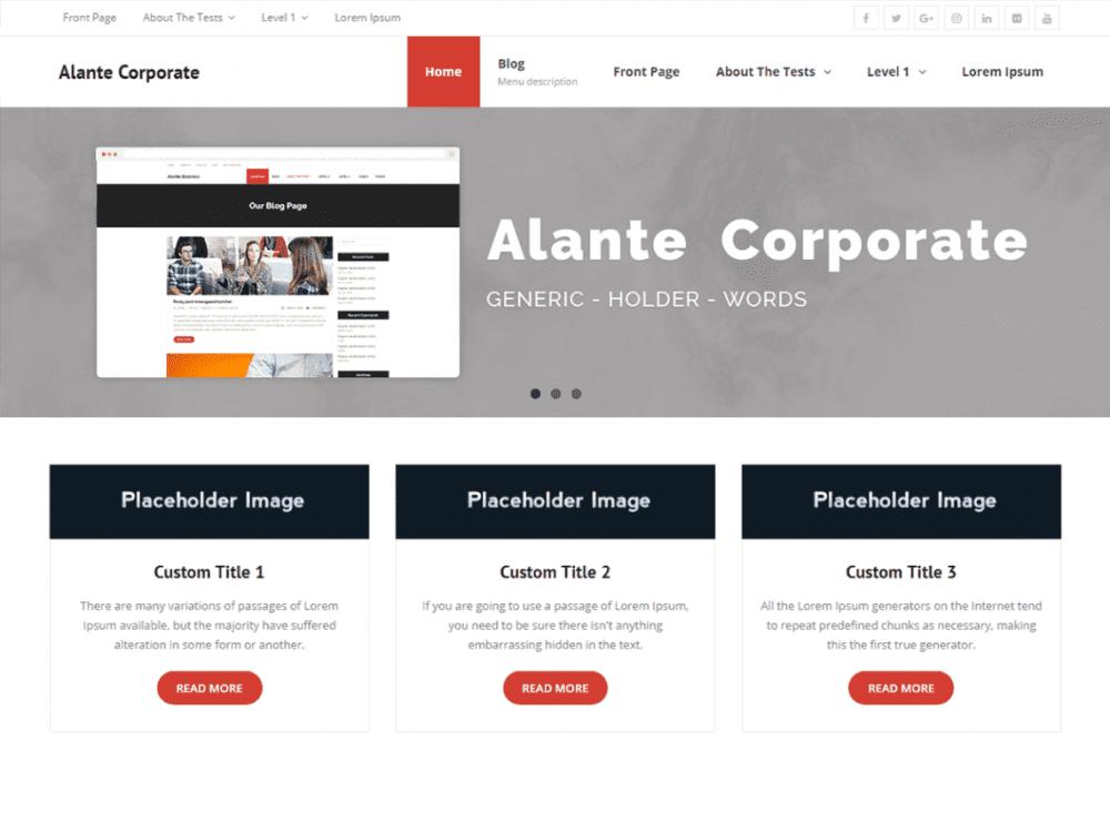 Free Alante Corporate WordPress theme